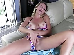 Blonde neighbor wants to watch. JOI