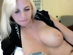 Horny beautiful blonde with big boobs chating