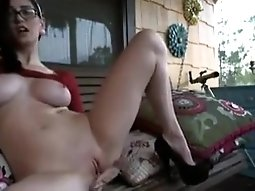 On the front porch