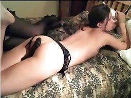 Bondage girl on bed, sexy play